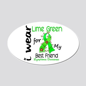 I Wear Lime 43 Lymphoma 20x12 Oval Wall Decal