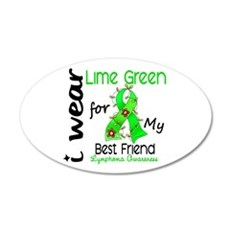 I Wear Lime 43 Lymphoma Wall Decal