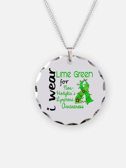 I Wear Lime 43 Lymphoma Necklace