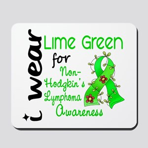 I Wear Lime 43 Lymphoma Mousepad