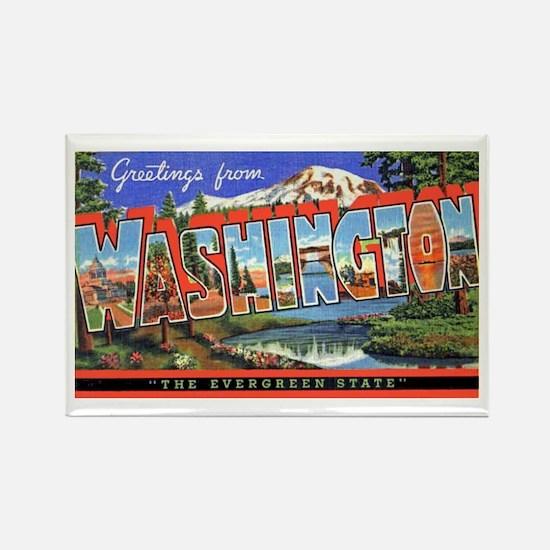 Washington State Greetings Rectangle Magnet