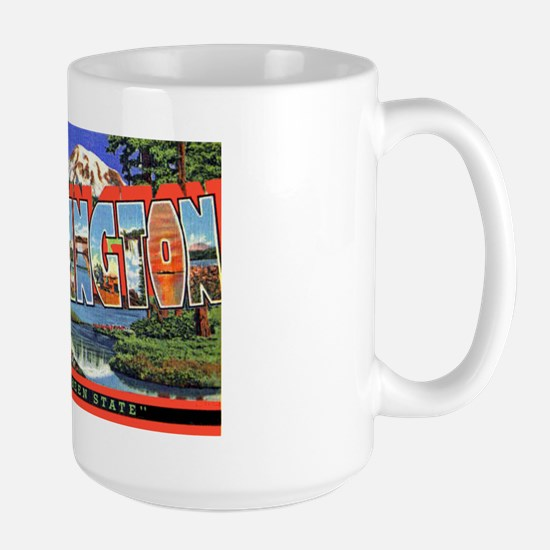 Washington State Greetings Large Mug