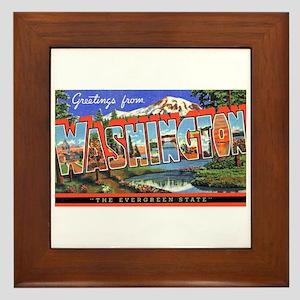 Washington State Greetings Framed Tile