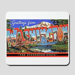 Washington State Greetings Mousepad