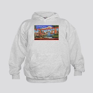 Washington State Greetings (Front) Kids Hoodie