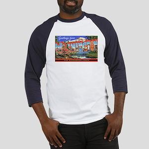 Washington State Greetings (Front) Baseball Jersey