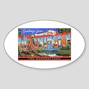 Washington State Greetings Oval Sticker