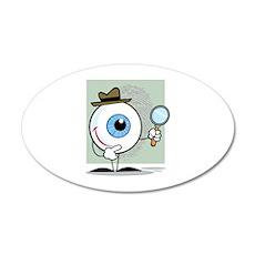 Eye 22x14 Oval Wall Peel