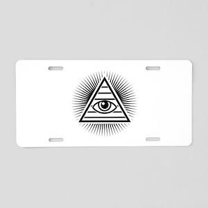 Eye Aluminum License Plate