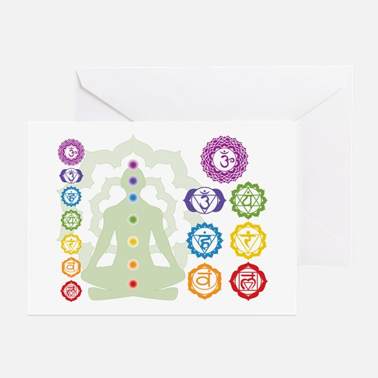 Chakras Greeting Cards