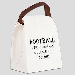COLLISIONCOURSE_1BLK Canvas Lunch Bag