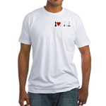 I Love Garden Tools Fitted T-Shirt