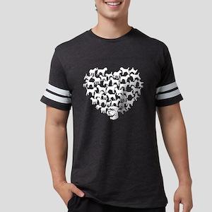 Border Terrier Heart T-shirt Mens Football Shirt