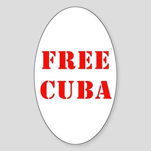 Free Cuba Oval Sticker