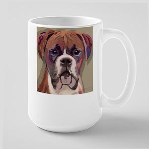 Large Mug w. Boxer Dog Pop Art Picture