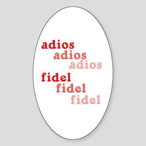 Fade Away Fidel Castro Oval Sticker