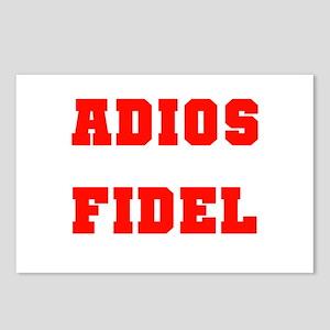 ADIOS FIDEL CASTRO OF CUBA Postcards (Package of 8