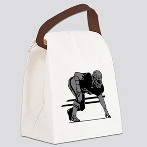 2105862GRAY Canvas Lunch Bag