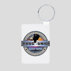 PROUD TO BE UNION Aluminum Photo Keychain