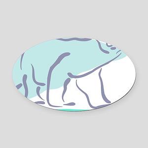 Bear100-polar Oval Car Magnet