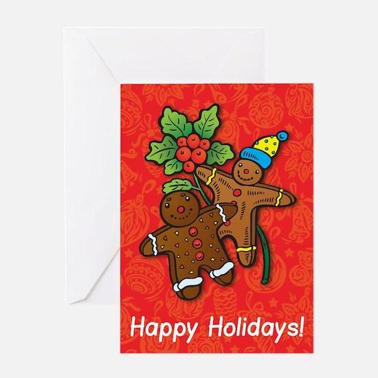 Gingerbread Men Greeting Card