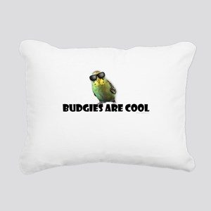 Budgies are Cool Rectangular Canvas Pillow