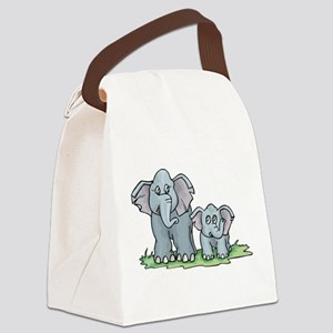 Elephant100 Canvas Lunch Bag