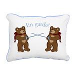 Teddy Bear Fencers Rectangular Canvas Pillow