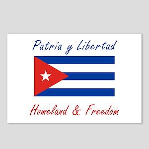 Patria y Libertad Cuba Postcards (Package of 8)