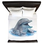 Happy Dolphin King Duvet