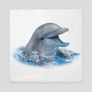 Happy Dolphin Queen Duvet