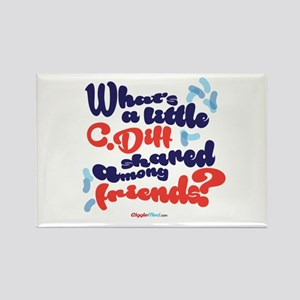 C. diff Among Friends 02 Rectangle Magnet