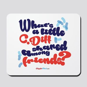 C. diff Among Friends 02 Mousepad