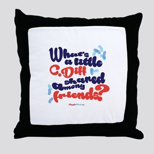 C. diff Among Friends 02 Throw Pillow