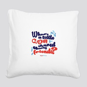 C. diff Among Friends 02 Square Canvas Pillow