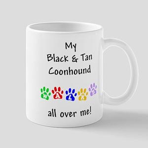 Black & Tan Coonhound Walks Mug