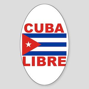 Cuba Libre Free Cuba Oval Sticker
