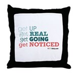 Get Up Throw Pillow
