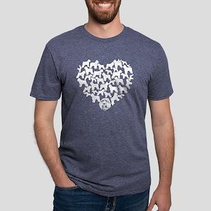 Bouvier des Flandres Heart  Mens Tri-blend T-Shirt