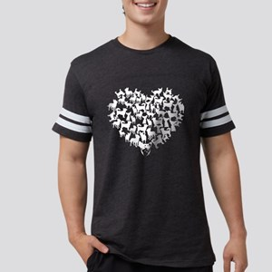 Chihuahua Heart T-shirt Mens Football Shirt