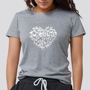 Chihuahua Heart T-shirt Womens Tri-blend T-Shirt