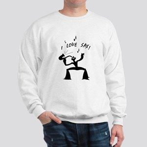 I Love Sax! #1A & #1B - Sweatshirt