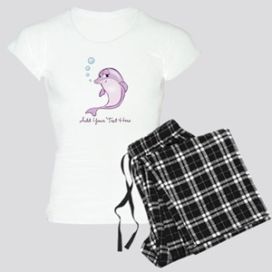 Cute Purple Dolphin Women's Light Pajamas