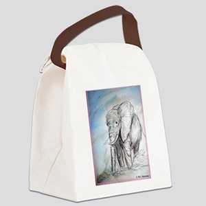 Elephant! Wildlife art! Canvas Lunch Bag