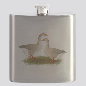 Tufted Buff Geese Flask