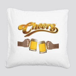 Cheers, Beer Mugs Square Canvas Pillow