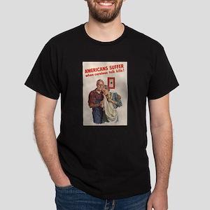 AMERICANS SUFFER Black T-Shirt
