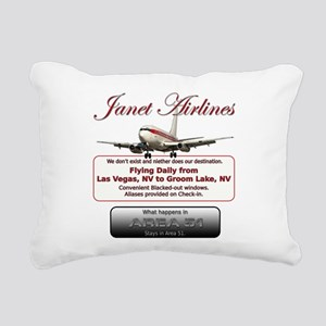Janet Airlines Rectangular Canvas Pillow