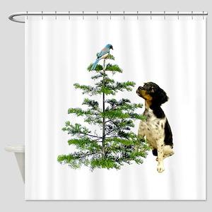 Bird Dog Tree Shower Curtain