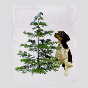 Bird Dog Tree Throw Blanket